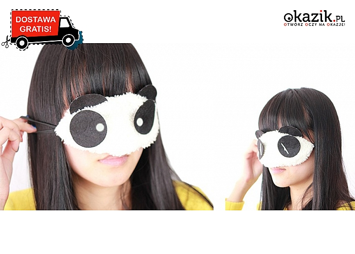 Opaska na oczy a la panda! Dziewczęca! Świetnie wykonana!