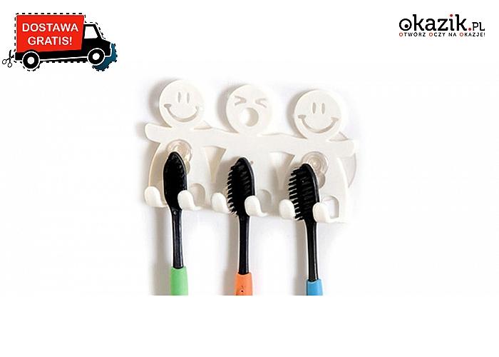 Zabawne uchwyty na szczoteczki do zębów: umieszczane na ścianie. Wysyłka GRATIS!