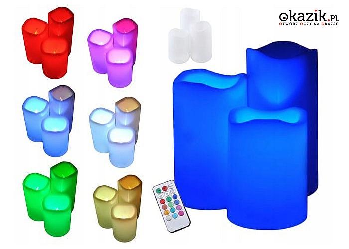 Świece LED, które wyglądają jak prawdziwe! Bezpieczne dla dzieci i zwierząt! 3 sztuki w zestawie!
