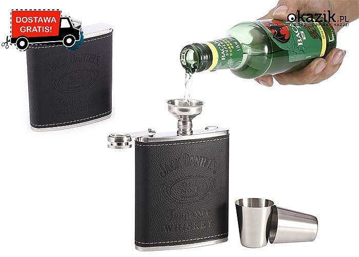 Niezwykle nowatorska piersiówka Jack Daniels! Dostępna również w zestawie z kieliszkami i lejkiem!