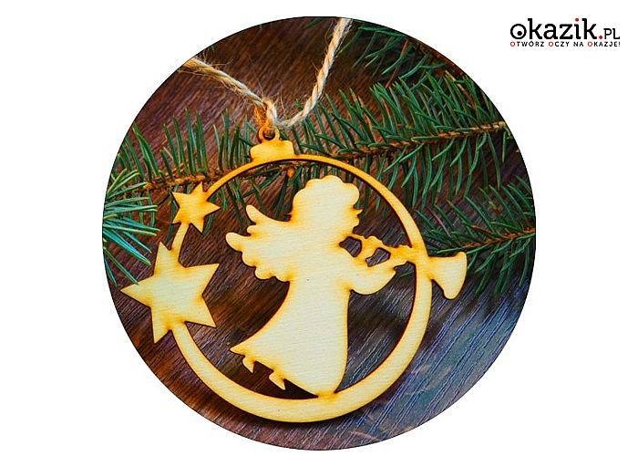 Ozdoby świąteczne ze sklejki w kolorze naturalnym! Idealne do ozdabiania i dekorowania.