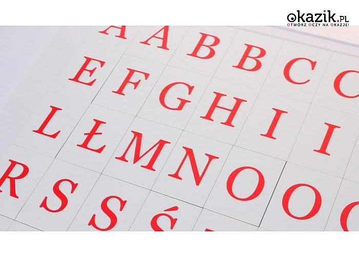 Szkolny alfabet magnetyczny, zabawa i nauka