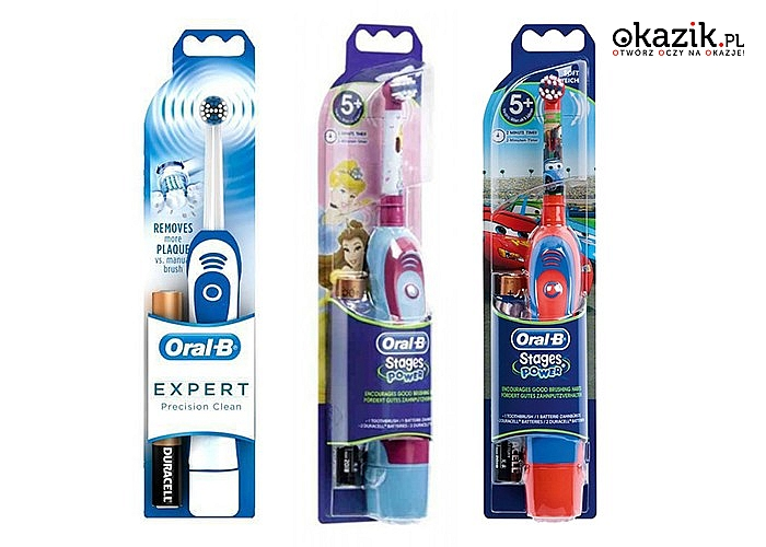 Oryginalna szczoteczka Braun Oral-B! Zaopatrz całą rodzinę w najefektywniejsze szczoteczki elektryczne na rynku!