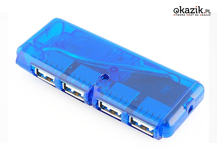 Podepnij pod komputer więcej urządzeń! Rozgałęźnik HUB z 4 portami USB o prędkości do 480 Mbps