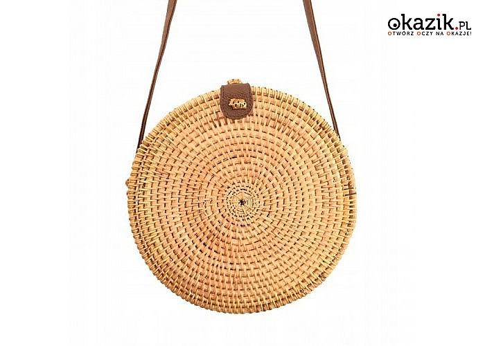 Dopełnij swoją stylizację modną torebką! Słomiany mini kuferek! Wysokiej jakości materiały!