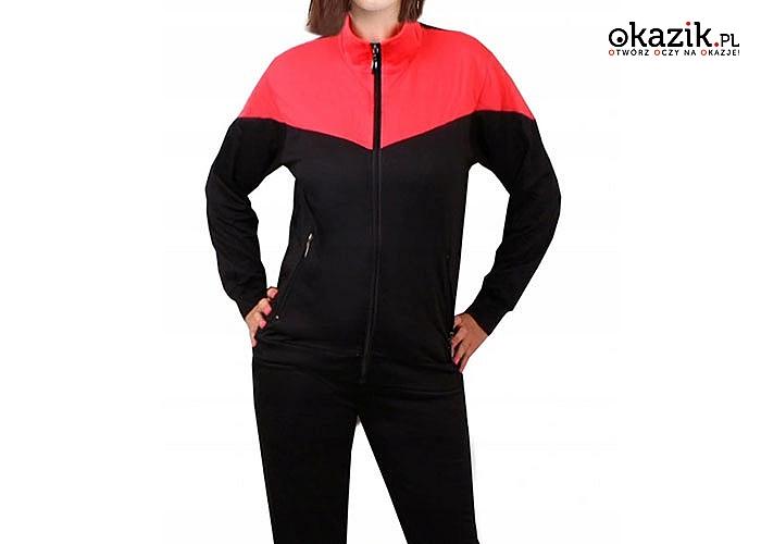 W sportowym stylu! Dres damski na stójce w trzech kolorach do wyboru.