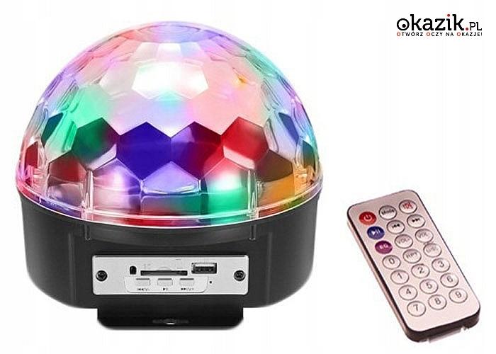 Idealna na imprezę! Kula dyskotekowa! Projektor disco!