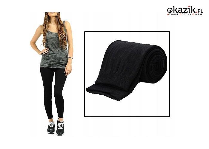 Wygoda i komfort w chłodne dni! Ocieplane legginsy bezszwowe idealne dla każdej kobiety!