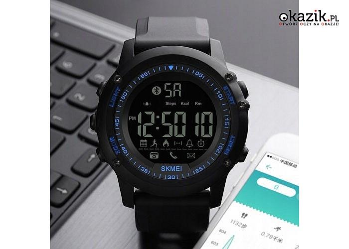 Oryginalny zegarek firmy SKMEI- idealny smartwatch bluetooth dla każdego,