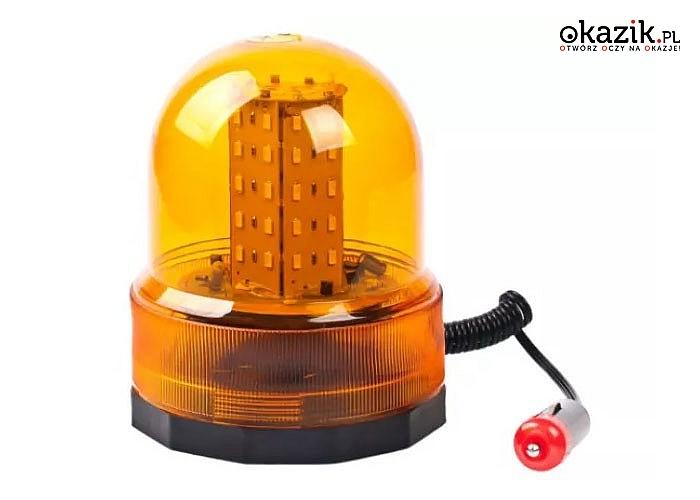 Kogut samochodowy 12V!  Praktyczne mocowanie na magnes! Wtyczka do zapalniczki z przewodem spiralnym! Pomarańczowy!