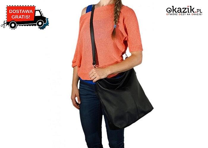 Dla Pań ceniących elegancję i praktyczność! Pojemna torebka zapinana na suwak w trzech kolorach do wyboru.