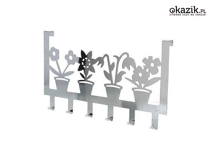Oryginalny wieszak na drzwi w kwiatki lub rybki! 6 haczyków! Mocna stabilna konstrukcja!