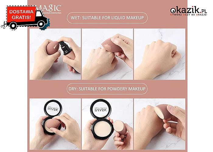 Make up blender! Fenomenalne gąbeczki do makijażu!