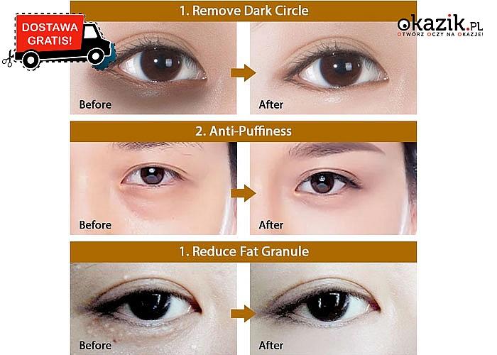 Odśwież spojrzenie! Płatki pod oczy z kolagenem, kwasem hialuronowym, złotem, żeń-szeniem, czarną perła lub wodorostami!
