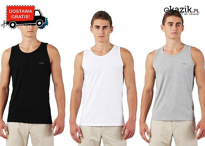MĘSKI TANK-TOP marki Pierre Cardin Pierre Cardin 1-pak lub 3-pak, miks kolorów, 100% bawełna i DARMOWA wysyłka