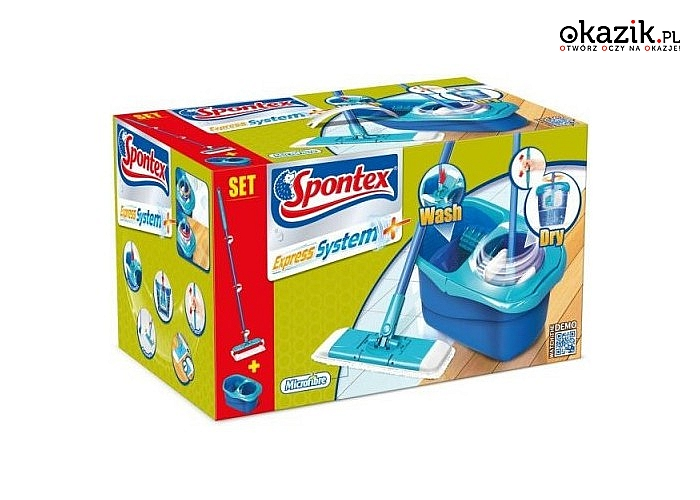 Nowoczesne zestawy do mycia podłóg firmy SPONTEX – sprzątaj szybko i efektywnie!