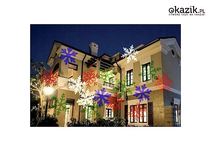Rozświetl swój dom lub jego wnętrze na święta! Reflektor laserowy Star Spot Light Shower Snowflake!