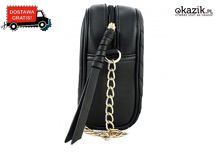 Monnari- elegancja tkwi w dodatkach! Czarna, pikowana chanelka jako dodatek do każdej stylizacji.