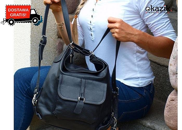 Plecako- torebka to absolutny hit! Przekonaj się sama! Do wyboru 4 kolory