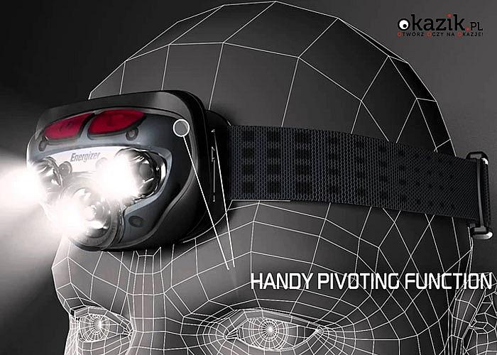 LATARKA CZOŁOWA ENERGIZER VISION HD+ LED CZOŁÓWKA. Duża moc i długa żywotność!