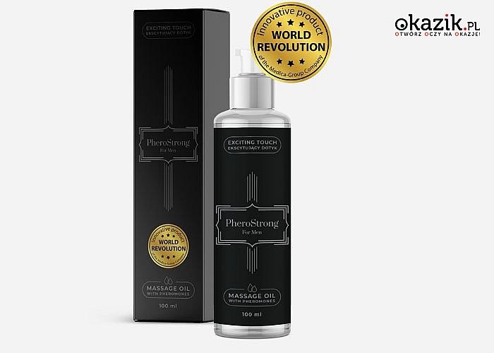 PheroStrong! Stworzone dla mężczyzn, olejki do masażu z feromonami! Stworzone aby zwiększyć podniecenie i atrakcyjność!