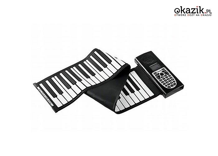 Rolowane, elektroniczne pianino! 49 klawiszy, 79 cm długości!