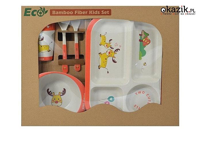 Obiad od razu inaczej smakuje! Komplet bambusowych naczyń dziecięcych!