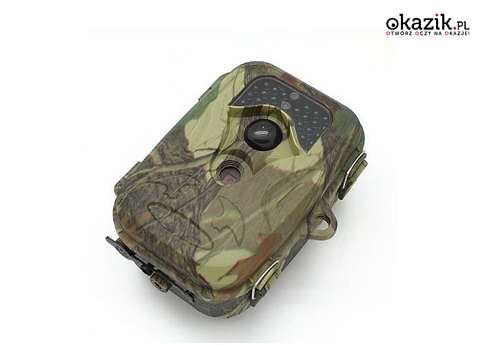Dyskretna fotopułapka, z możliwością robienia zdjęć i nagrywania filmów również w nocy! 3 modele do wyboru.