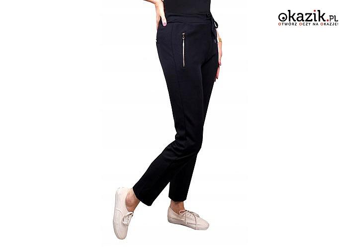 Uniwersalne, sportowe spodnie damskie w większym rozmiarze! Cosualowy model na każdą okazję!