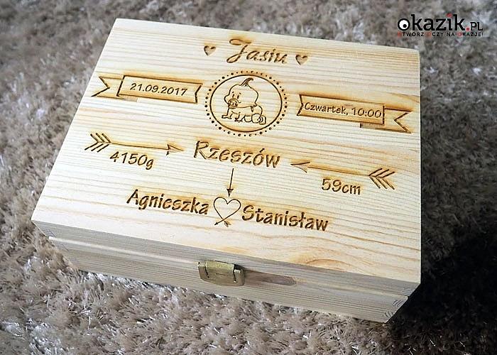 Pudełko wspomnień z grawerem! Spraw swoim najbliższym oryginalny upominek!