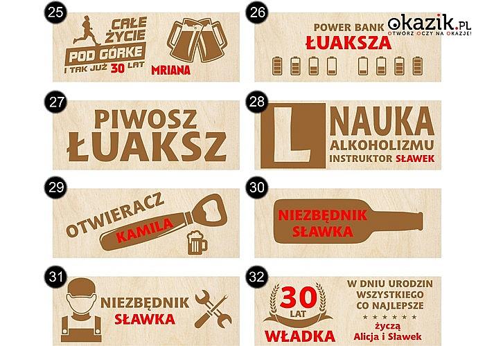 Personalizowane nosidełko na piwo z grawerem! Oryginalna propozycja prezentu dla każdego mężczyzny! Polski producent!