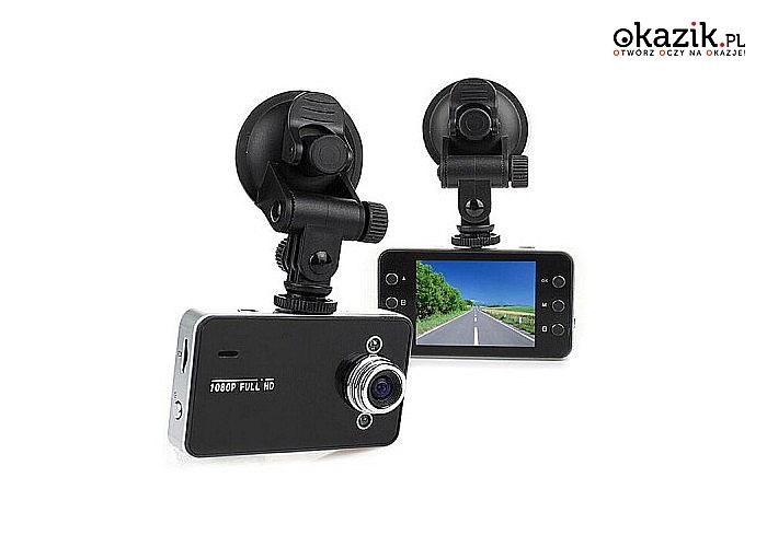 Kamera samochodowa 2.4! Full HD! Prosta w obsłudze! Szerokie pole nagrywania! Polski język! Ładowarka w zestawie!