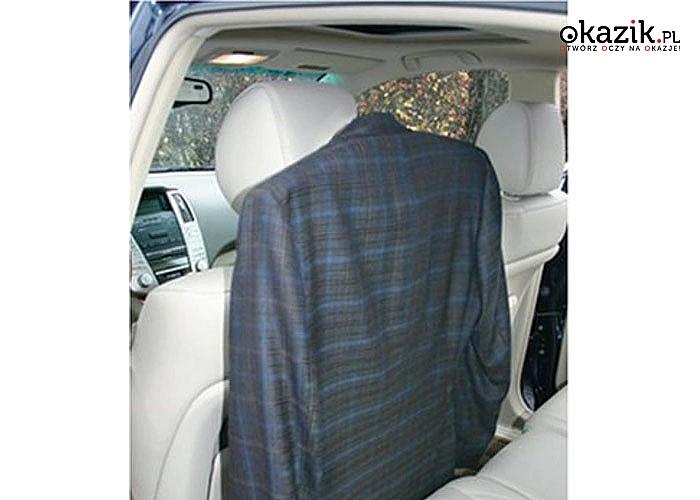 Nienaganny wygląd nawet w podróży! Samochodowy wieszak na ubrania!