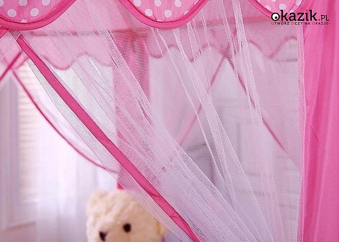 Namiot ogrodowy dla dzieci! Szybki w montażu, z dekoracyjną firanką!