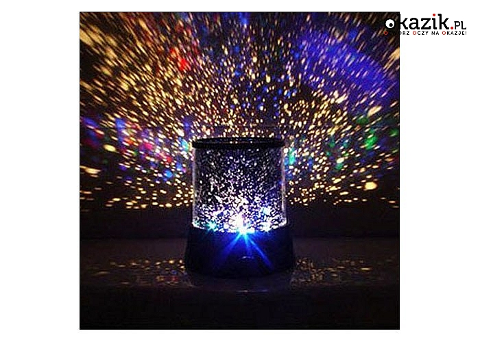 Projektor Gwiazd Star Master- lampka nocna w komplecie z zasilaczem