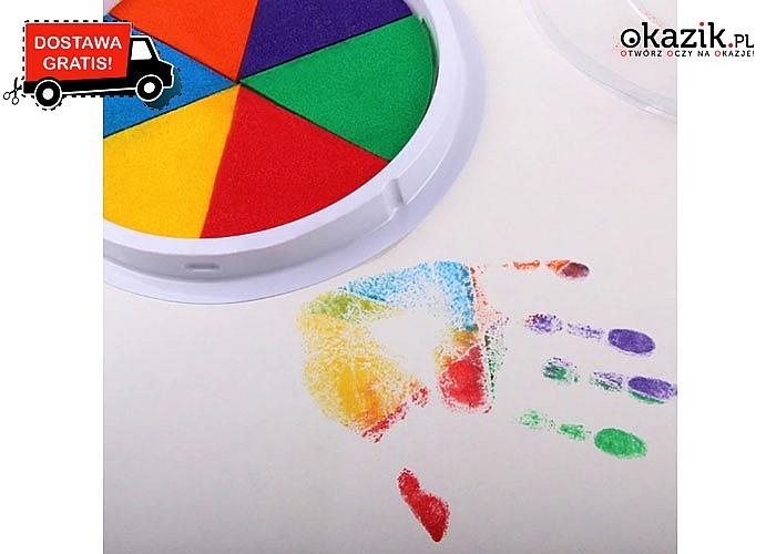 Kolorowy atrament dla dzieci, do malowania rękami i nogami.