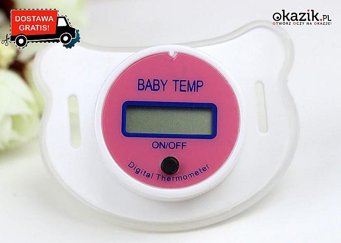 Zmierz temperaturę niemowlakowi! Termometr cyfrowy w smoczku! Dwa kolory do wyboru!