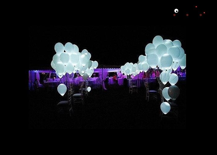 Świecące w ciemności lateksowe balony. Kolor biały