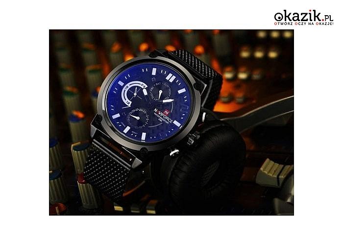 Naviforce! Wodoodporny zegarek analogowy z mechanizmem kwarcowym.