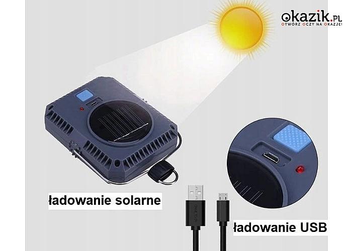 Bezprzewodowa lampa solarna. Niezastąpiona w plenerze, na biwaku, w domu czy w warsztacie