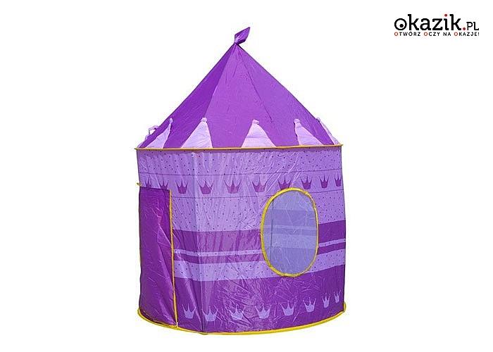 Do domu, na plażę, do ogrodu! Namiot- zamek dla dzieci! Dwa kolory do wyboru.