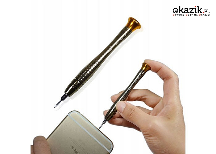Zestaw otwieraków do sprzętów elektronicznych. Przydatny przy naprawie telefonów, tabletów, smartfonów