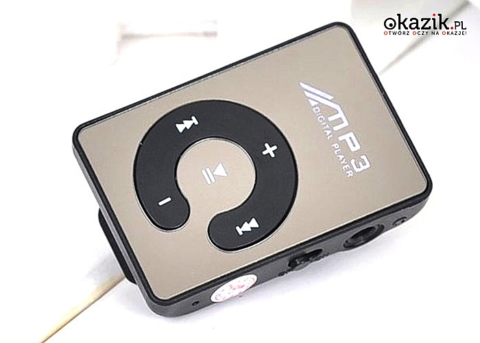 MINI ODTWARZACZ MP3. Ładujesz 50 minut by cieszyć się muzyką przez nawet 6 godzin!