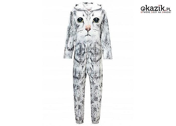 Coś dla wszystkich fanów kotów! Onesie z kotkiem! Jednoczęściowy dres, dostępny w 4 rozmiarach!