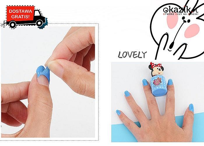Rozpuszczalny lakier dla paznokci dla małych modnisi! Kolor wysyłany losowo.