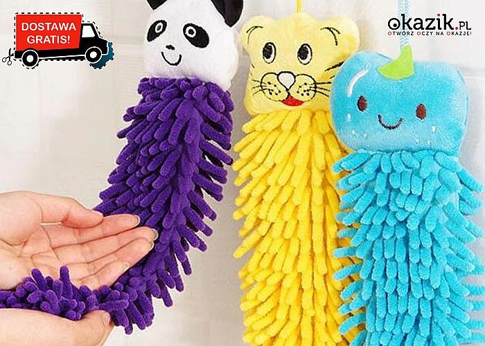 Mięciutki ręcznik dziecięcy do wycierania rączek  i buzi. 3 kolory do wyboru.