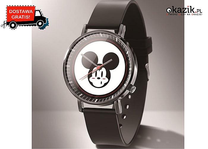 Z Myszką Mickey lub Minnie! Stylowy zegarek z bajkowym motywem dla każdego fana!