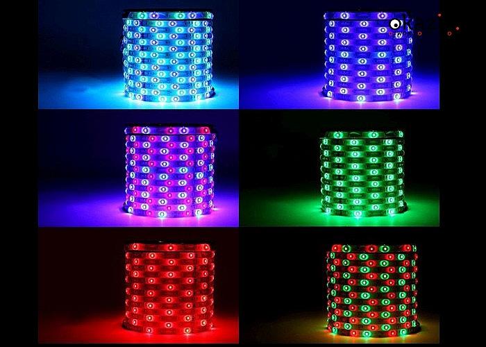 Rozświetl swoje wnętrza kolorami! Taśma LED z pilotem, sterownikiem oraz zasilaczem! Aż 5 metrów długości!