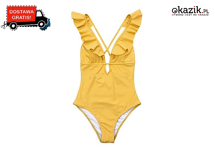 Modna na plaży! Jednoczęściowy strój kąpielowy w 4 kolorach do wyboru!