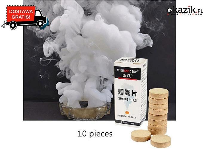 WOW! Dekoracyjny biały dym w tabletkach !